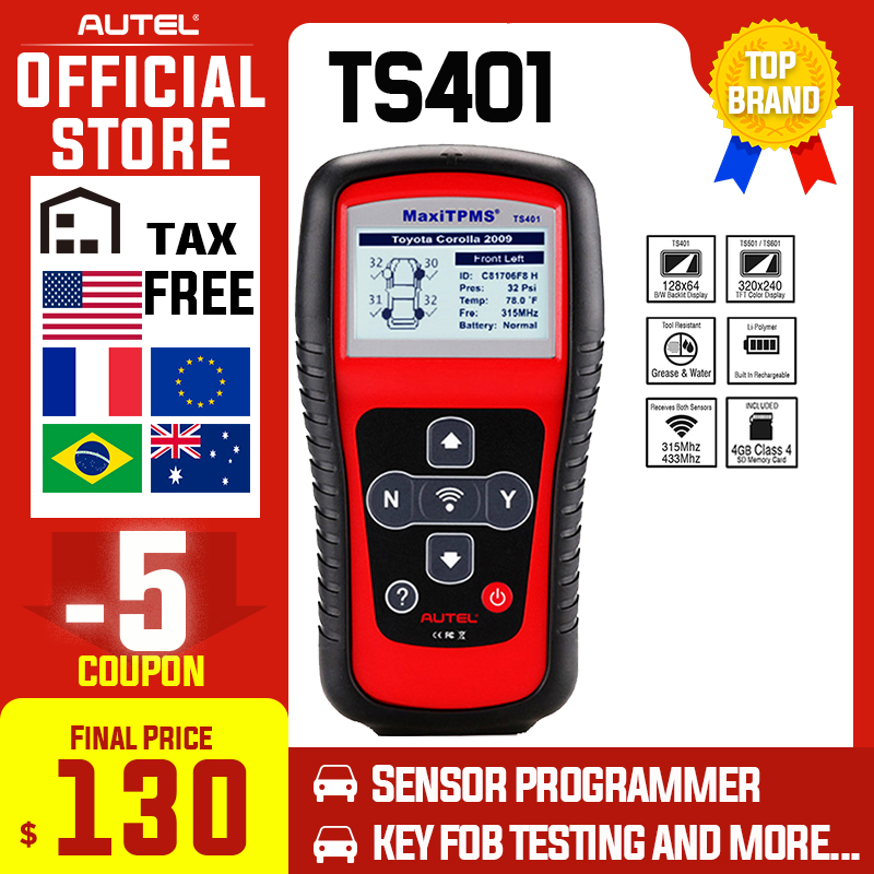 Autel TS401 TPMS Diagnostic Tool Copy ID 315mhz 433mhz Sensor Activation Programming Mx Sensor MaxiTPMS Tyre Pressure Tester|Code Readers & Scan Tools| - AliExpress