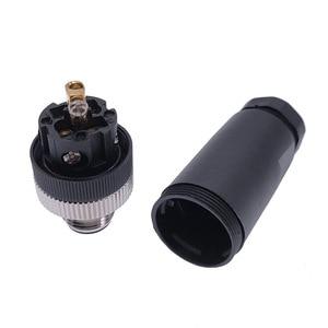 Image 5 - M12 sensor connector waterproof male&female plug screw threaded coupling 4 5 8 Pin A type sensor connectors