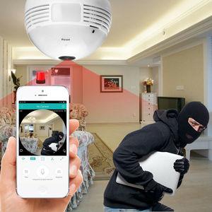 Image 3 - 360 학위 와이파이 미니 카메라 960P HD CCTV 파노라마 야간 모션 감지 홈 감시 원격 감시자 마이크로 캠