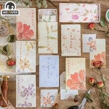 Mr.paper 30 pçs/caixa 8 projetos ins estilo flor e grama série mensagem criativa mão conta deco diy matchbox material papel