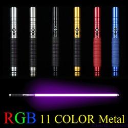 11 farbe Lichtschwert lichtschwert Metall Schwert RGB Verfärbung Laser Cosplay Spielzeug Leuchtende Außen Kreative Wars Spielzeug Stick Saber