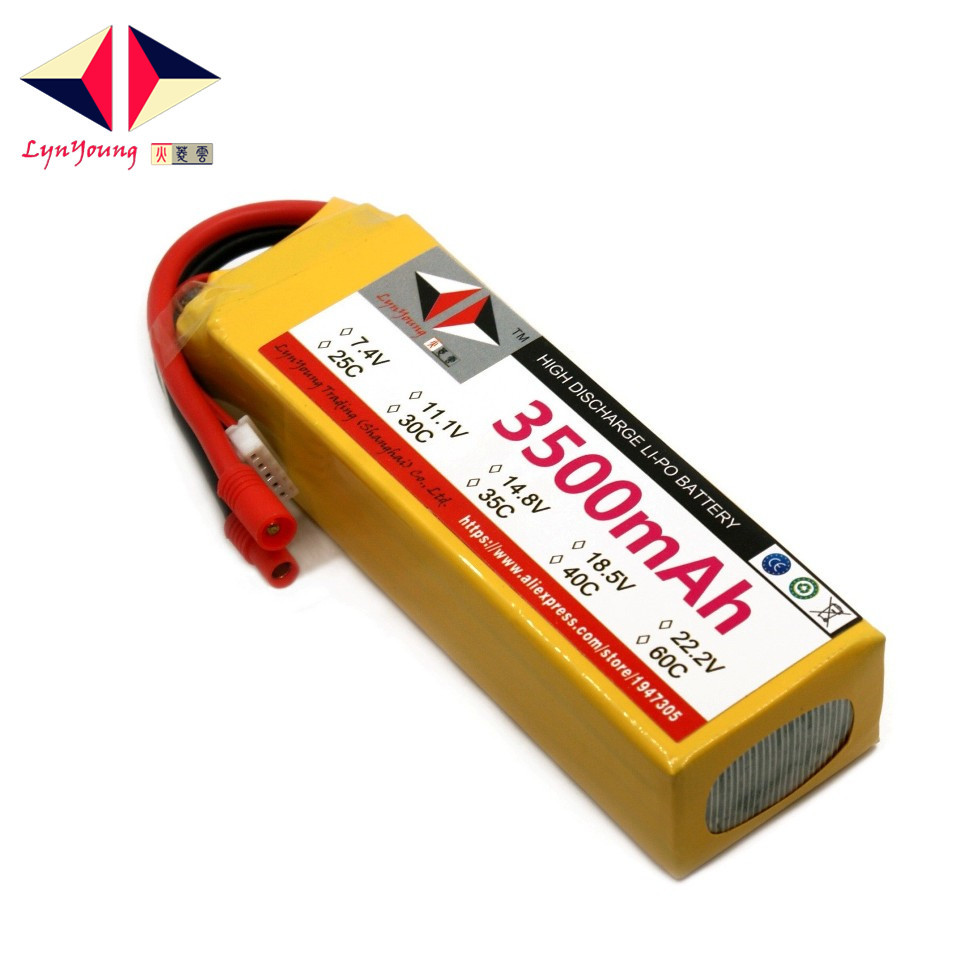 14.8V <font><b>3500mAh</b></font> 25C 30C 35C 40C 60C <font><b>4S</b></font> <font><b>Lipo</b></font> Battery For RC Boat Car Truck Drone Helicopter Quadcopter Airplane UAV image