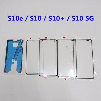 ЖК-передняя внешняя линза для Samsung Galaxy S10 S10 Plus 5G G975 S20 S20 + сенсорный экран Стекло S10 5G G977 сменная рамка наклейка