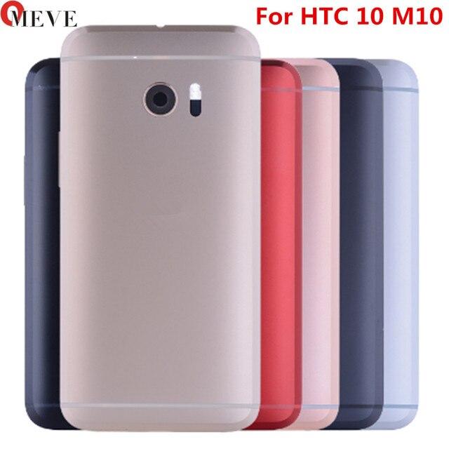 עבור HTC 10 אחד M10 חזור סוללה שיכון דלת כיסוי מקרה עם נפח מפתח כוח על Off לחצן + מצלמה עדשה