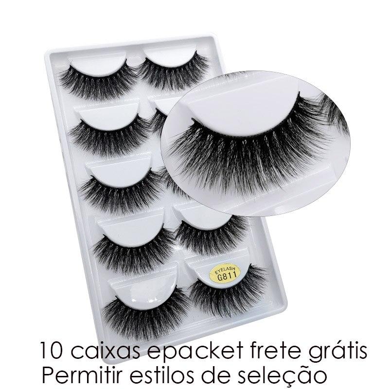 Image 2 - 50 pairs Wholesale Eyelashes Natural Mink Eyelashes False Eye Lashes Mink Lashes Fake Eyelash Extensions maquiagem faux cilsFalse Eyelashes   -