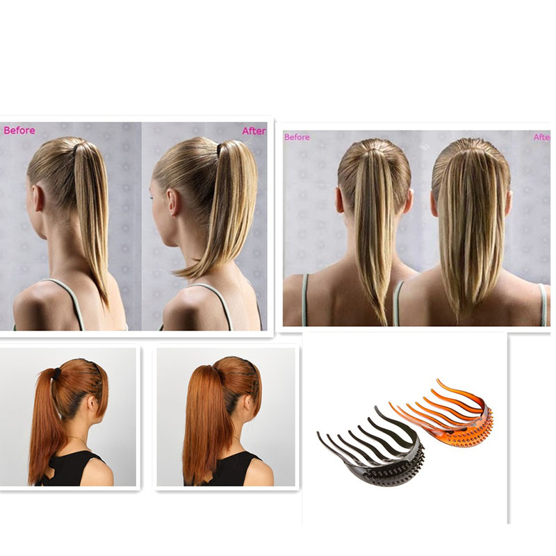 Lady Girl DIY Hair Tools Volume Inserts Hair Clips Hairpins  Bouffant Insert Clip Ponytail Comb Grips Headwear Ornaments Gifts