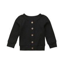 0-24 Months Toddler Baby Kids Knitted Sweater Cardigan Solid