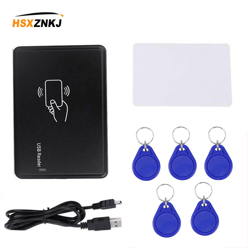 Lector de tarjetas USB em4305 t5577, lector de tarjetas, copiadora rfid, quemador programador 125 khz para control de acceso de seguridad doméstico Lector de fotocopiadora de tarjetas RFID NFC, duplicador inglés, programador de frecuencia 10 para tarjetas de ID IC y todas las tarjetas 125kHz + 5 uds. ID 125k