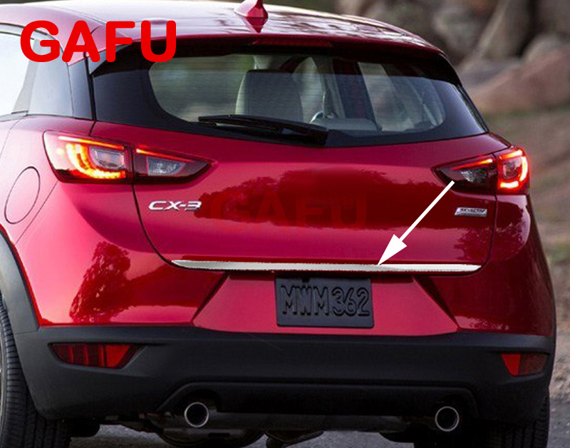 For Mazda CX-3 CX3 2014-2018 Sticker Stainless Steel back door Tailgate trim 1pcs Car Accessories 2019 2020(China)