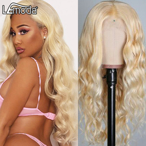 613 медовый блонд, кружевной передний парик, объемные волнистые человеческие волосы, парики, Прозрачный HD кружевной парик 13x4 13x6x1 T, Кружевные ...