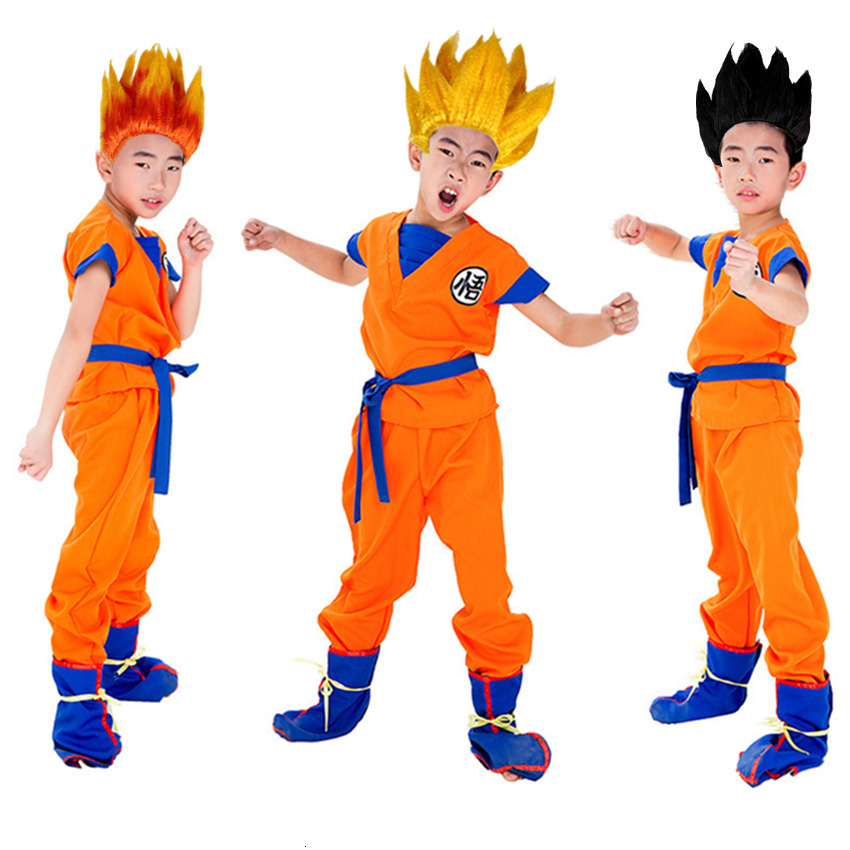 Dragon Ball Z Costumes Son Goku Suit Kids Adult Fancy Party Halloween Cosplay Clothes Wigs Carnival Anime Cosplay Costumes