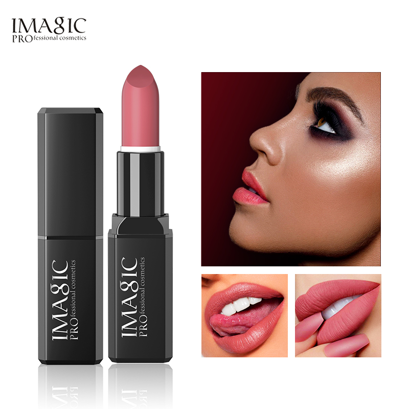 IMAGIC Kissproof Glossy Lipstick 16 Colors Waterproof Pigment Multiple Colour Easy To Carry Matte Batom