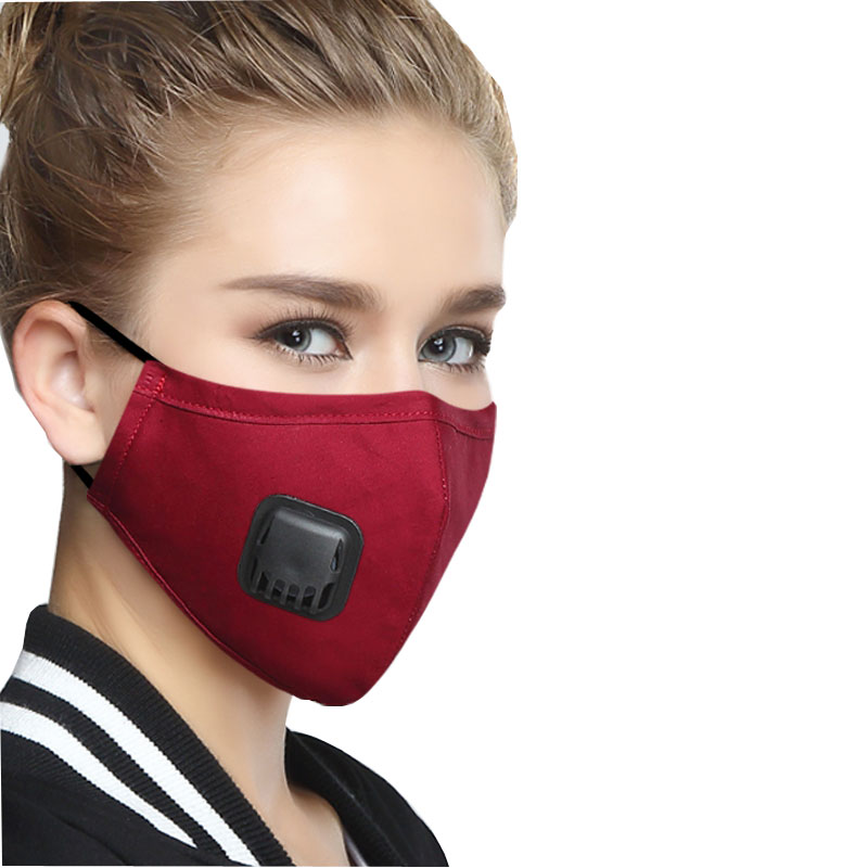 Korean Cotton Fabric mouth face mask PM2.5 Anti Haze/Anti dust mask Respirator mascaras With Carbon Filter Respirator Black Mask 3