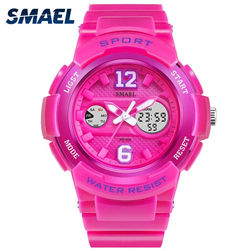 Lady Fashion Watches Waterproof Women Pu Smael 30m Dual-Display White Mujer Relojes thumbnail