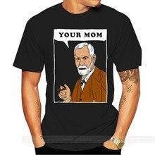 Online Camisetas Design de Sua Mãe Psicologia Sigmund Freud T Shirt Engraçado Piada tshirt dos homens do algodão t-shirt da forma do verão tamanho euro