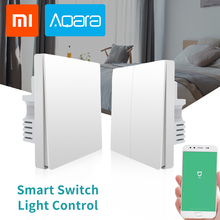 цены на Xiaomi Aqara Mijia Smart Wifi Switch Light Control Single Fire wire ZigBee Wireless 1 2 Gang Key Wall Switch APP Remote Control в интернет-магазинах