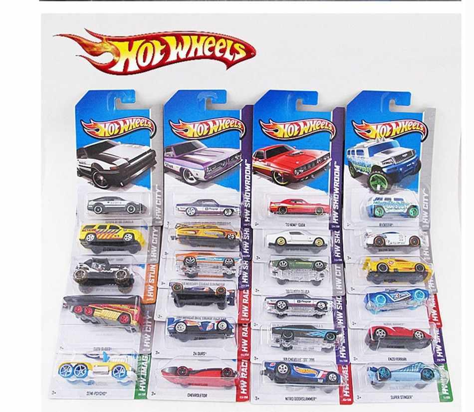 1-72 PCS/Kotak Hot Wheels Diecast Logam Mini Model Brinquedos Hotwheels Mainan Mobil Mainan Anak-anak untuk Anak-anak Ulang Tahun 1:43 hadiah