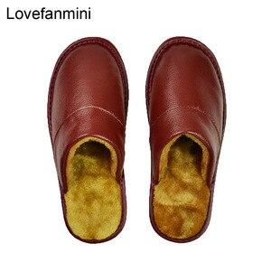 Image 4 - Prawdziwa krowa skórzane kapcie para kryty antypoślizgowe mężczyźni kobiety domu modne buty w stylu casual pcv miękkie podeszwy zima 618