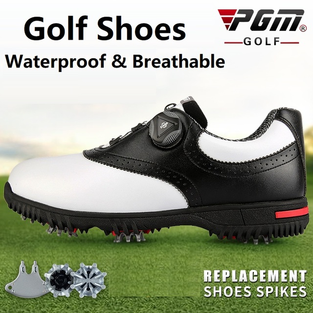 PGM Men Golf Shoes Waterproof Sports Shoes Rotating Buckles Anti-slip Sneakers Multifunctional Golf Trainers 1