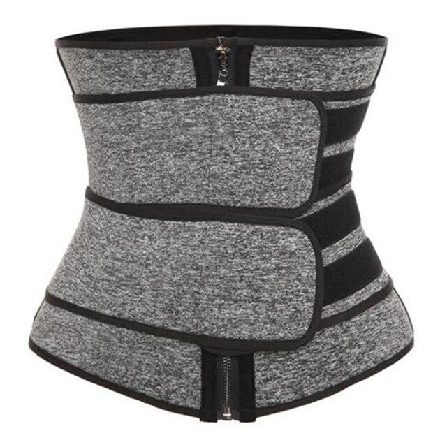 Waist Trainer Cincher Trimmer Sweat Belt Men Women Shapewear with Double Strap 2