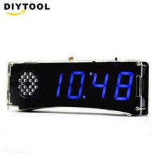 Yd 030 набор цифровых светодиодных часов Речевая версия электронных