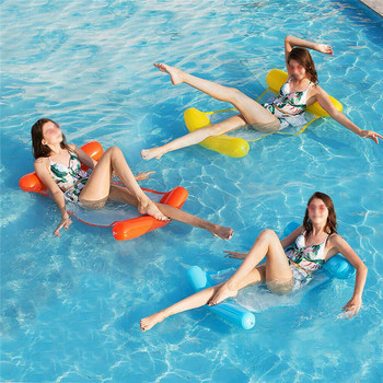 Floating bed Inflatable Collapsible Water Bed Hammock Pool Deck Chair Swimming