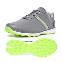 Профессиональные мужские кроссовки для гольфа, водонепроницаемые спортивные кроссовки золотистого цвета для мужчин, легкие удобные кроссовки для гольфа, брендовые кроссовки
