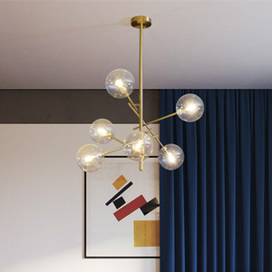 Image 2 - Europe Modern Creative Concise Style Glass Pendant Light Glass Bubbles Study Livingroom Restaurant Cafe Decoration Lamp