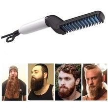 Gift Multifunction Comb Fast Man Cap Straight Moustache Straightening Brush Hair