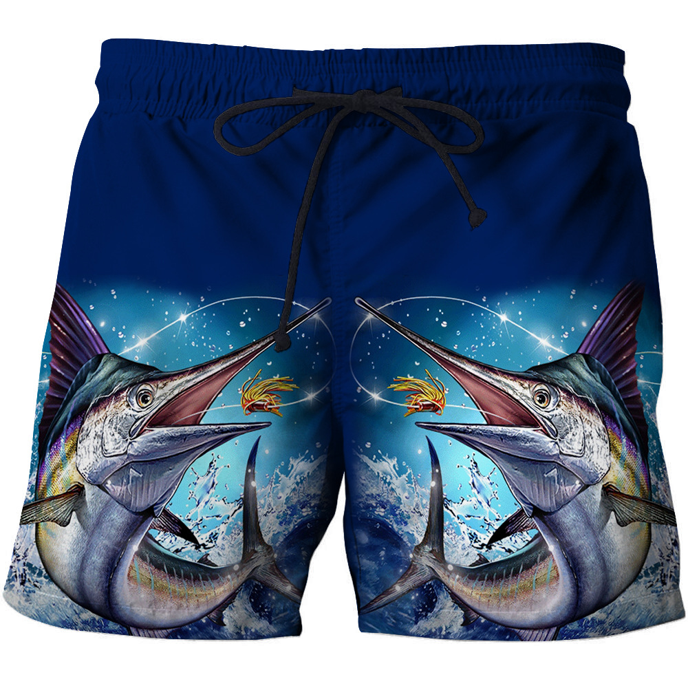 2020 New Surf Swimming Shorts Swim Trunks Beach Sports Suit Quick Dry Short 3D Print Fish Summer Beach Shorts S - 6XL