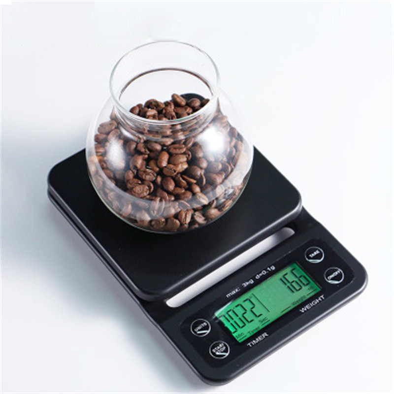 5kg//0.1g 3kg//0.1g 10kg//1g Stainless Steel Coffee Scale Kitchen Scale Timing