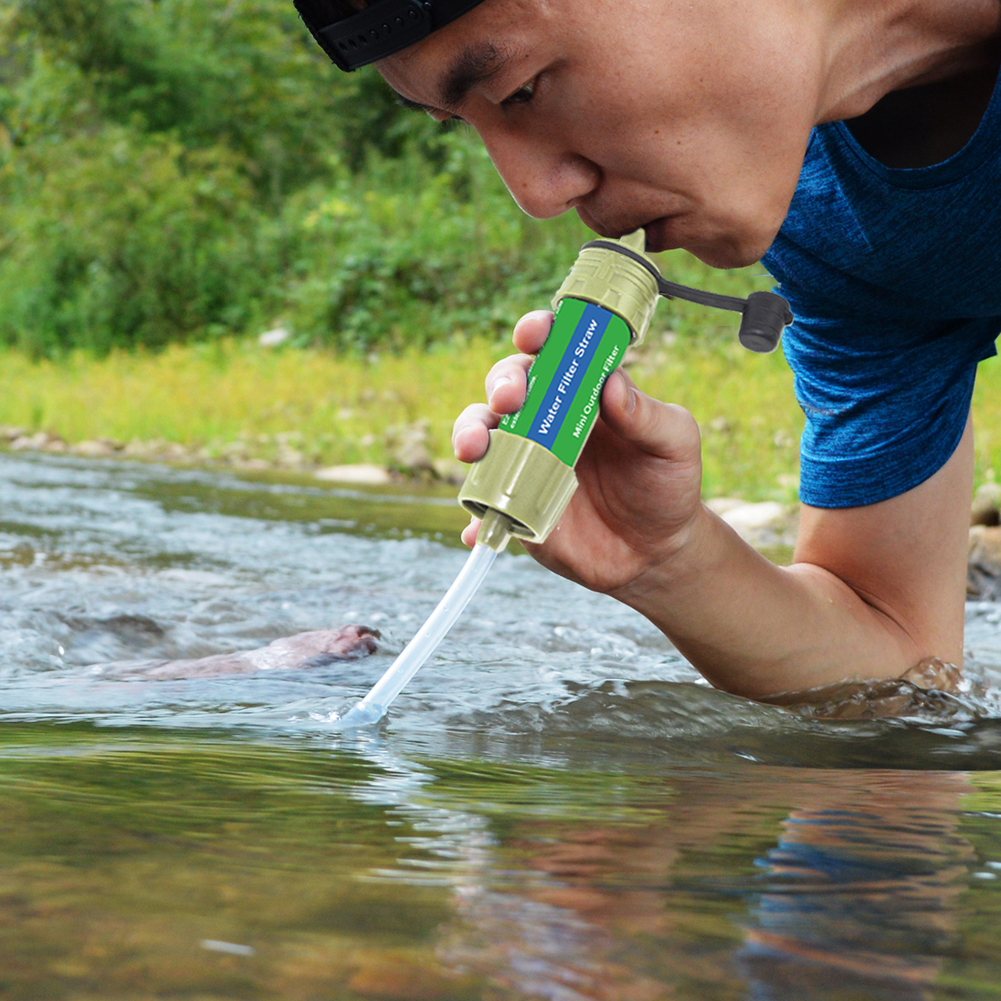 New Outdoor Portable Water Purifier Personal Emergency Water Filter Mini Filter 5000 L Filtration Camping Hiking Survival
