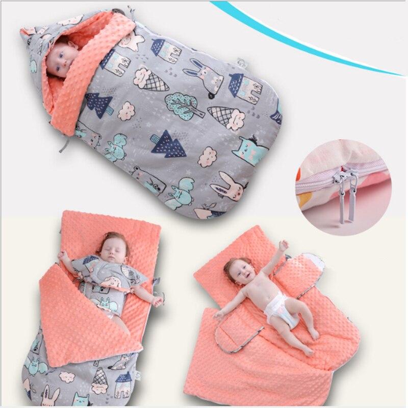 Baby Sleeping Bag Toddler Stroller Envelopes Sleeping Bag Cartoon Animal Cotton Swaddle Wrap For Newborn Kids Baby Sleep Sack