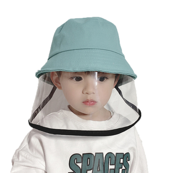 Children Unisex Protective Anti-fog Bucket Hats Casual Solid Dome Anti Foam Hat Chlid Sun Protector Bucket Hat image