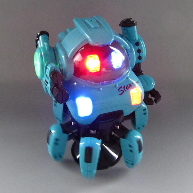 Dance Music 6 Claws Robot Octopus Spider Robots Vehicle Birthday Gift Toys For Children Kids Early Education Baby Toy Boys Girls 6