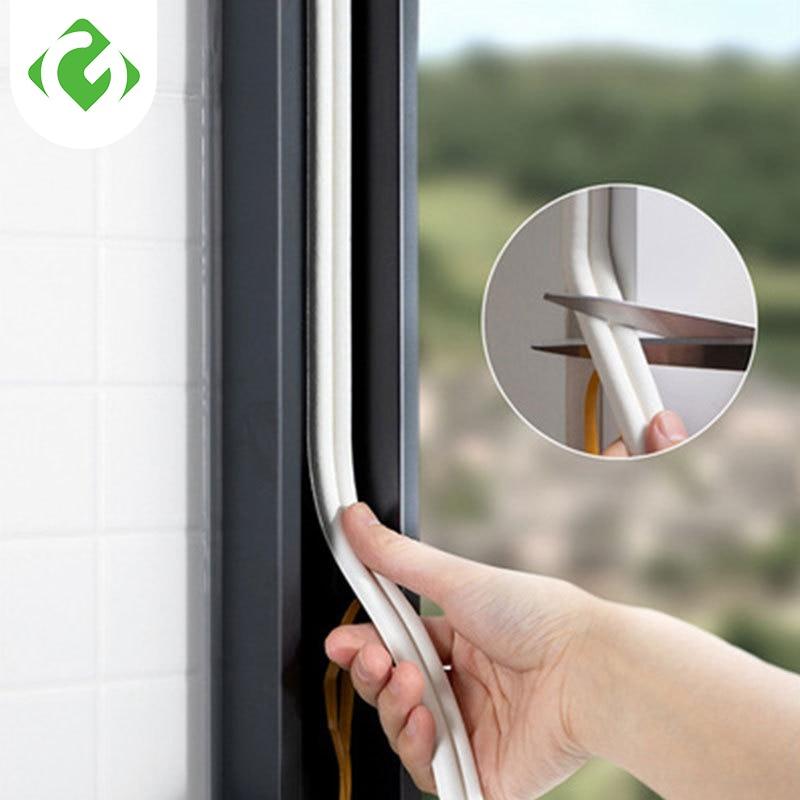2.5M Type DIEP Self Adhesive Door Sealing Strips Self Adhesive Window Foam Wind Waterproof Dustproof Sound Insulation Tools