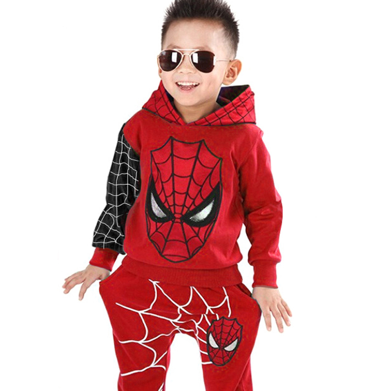 Children Clothes 2020 Spring Autumn Toddler Boys Clothes Sets Hooded Spider-Man Costume Kids Clothes For Baby Boys Sport Suit