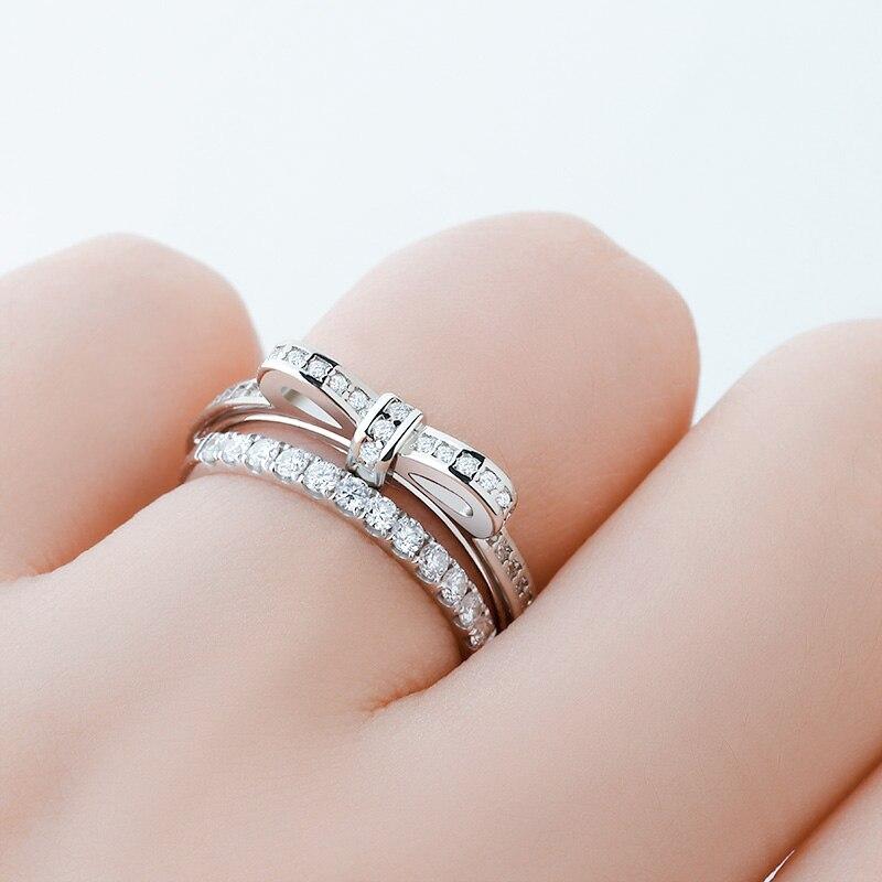 BICUX простое Кристальное кольцо для женщин белый циркон камень романтический подарок на свадьбу, помолвку для девушки женские ювелирные изделия