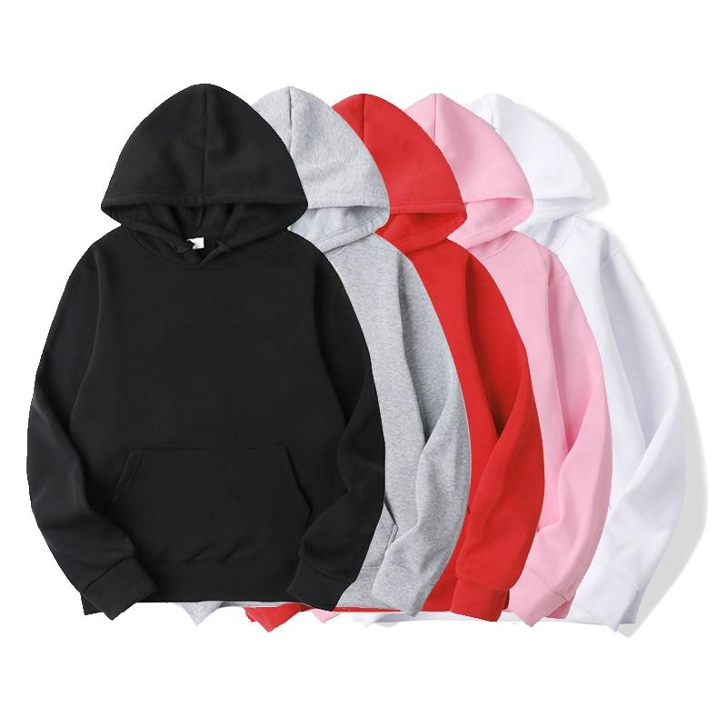 XUANCOOL New Casual BALCK WHITE RED PINK GRAY HOODIE Hip Hop Streetwear Spring Sweatshirts Skateboard Men/Woman Pullover Hoodies