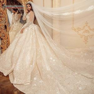 Image 1 - מדהים אמיתי עבודת חתונה שמלה 2021 robe דה soiree