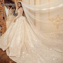 Stunning real work wedding dress 2021 robe de soiree