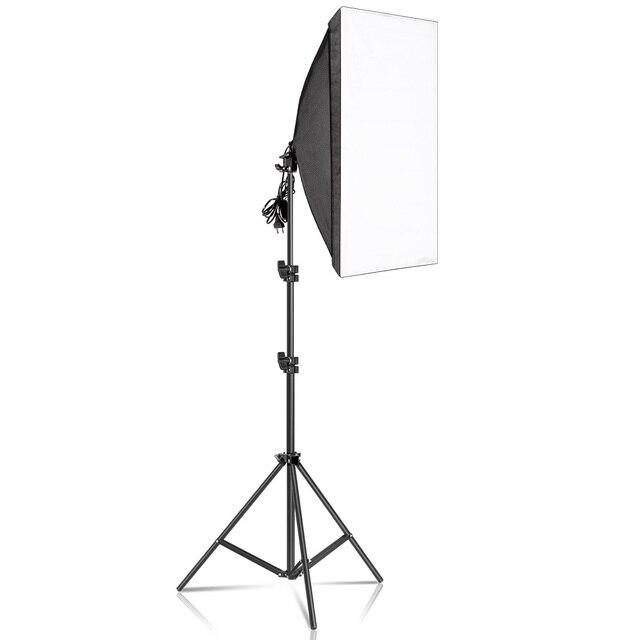 사진 Softbox 조명 키트 50x70CM 전문 연속 조명 시스템 소프트 박스 사진 스튜디오 장비