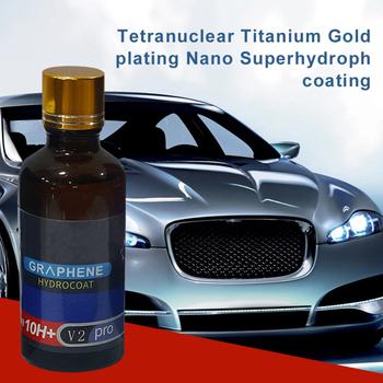 Powłoka ceramiczna do samochodów szkło Nano Super hydrofobowy samochód poszycie anty-zarysowania grafen poszycie rozwiązanie lakier do samochodu tanie i dobre opinie CN (pochodzenie) 30ml 50ml