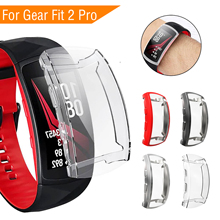 Sport TPU Case for Samsung Fit 2 Pro Full Protection Smart Watch Case for Samsung Fit2 Pro Full Screen Protector for Fit 2 Pro 2pcs anti scratch soft tpu ultra hd clear protective film guard for samsung gear fit 2 pro fit2 pro full screen protector cover