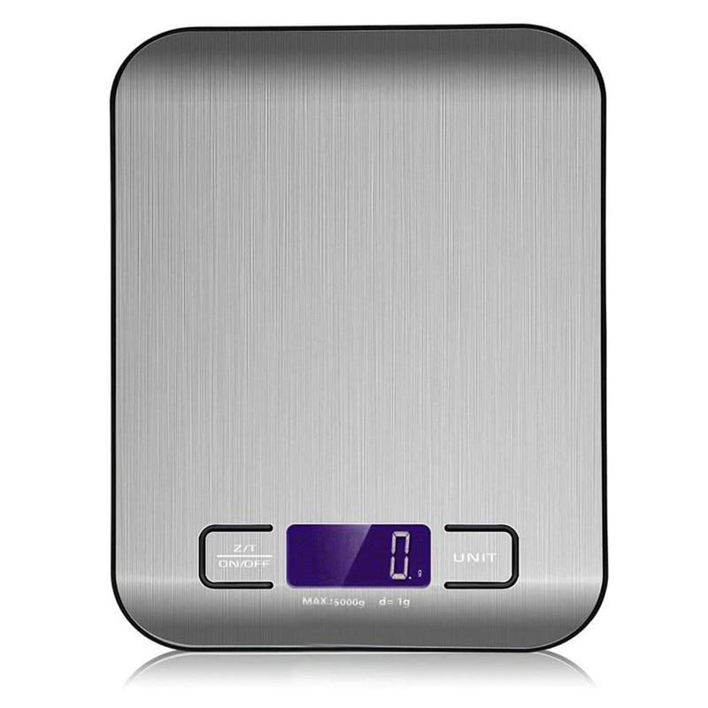 נירוסטה דיגיטלי סולמות מטבח 10kg/5kg אלקטרוני דיוק מזון דיאט Scale לבישול Measurment מטבח אבזרים