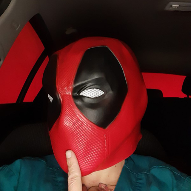 Deadpool Cosplay Latex Mask for Adults and Teenagers 3