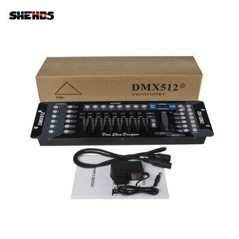 192 DMX تحكم المرحلة الإضاءة DJ معدات DMX وحدة التحكم ل LED الاسمية تتحرك رئيس الأضواء DJ تحكم غسل الجدار ديسكو