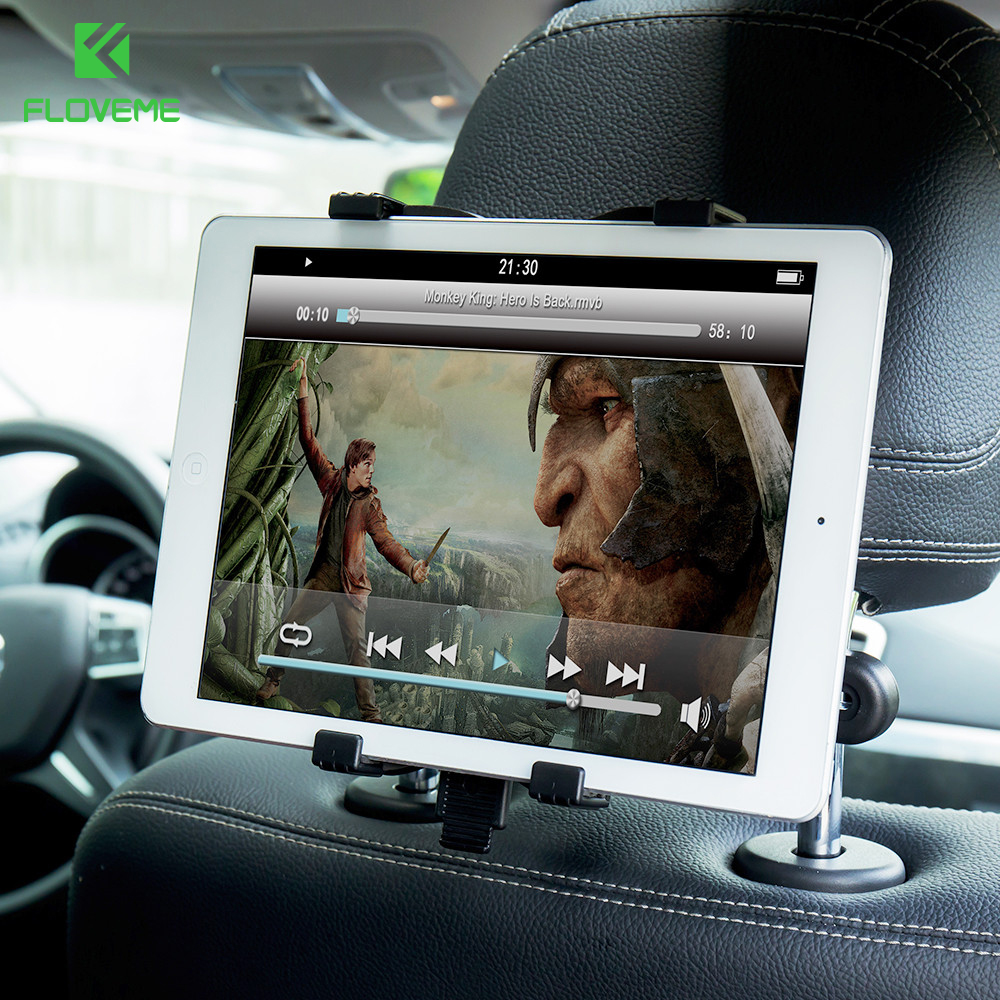 FLOVEME Universal Auto Car Tablet Holder For iPad 2 3 4 5 Air 1 2 Pro Car Back Seat Tablet Mount Stand For iPad Mini 1 2 3 4 5