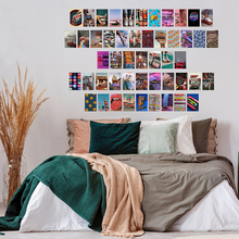 50Pcs Retro 80s Aesthetic Picture for Walls Collage Colorful Collage Kits Retro Room Decor for Girls Wall Art Prints for Rooms