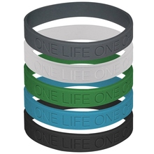 Wristband Bracelet Silicone-Rubber Motivation Chance Woman 1pc Unisex Life-One Give-Up
